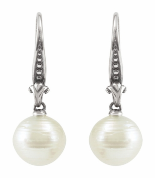 Rich Pearl Drop Earrings