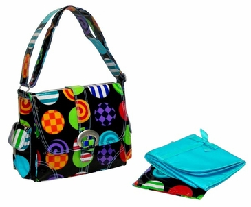 Rock n' Roll - Midi Coated Buckle Diaper Bag by Kalencom