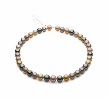 Round Multi-Color Pearl Strand