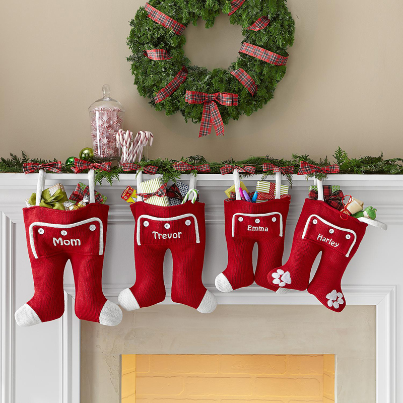 Santa Long John Christmas Stocking