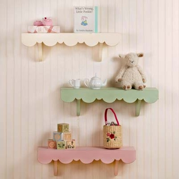 Scalloped Cottage Shelves by New Arrivals