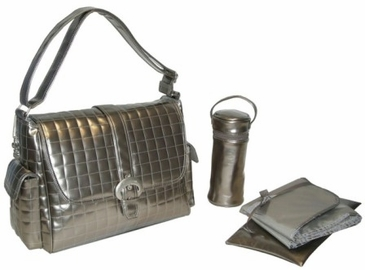 Silver - Monique Diaper Bag by Kalencom