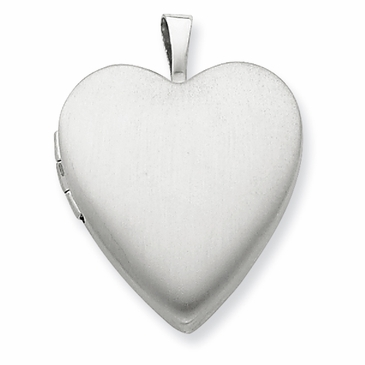 Silver Puff Heart Locket