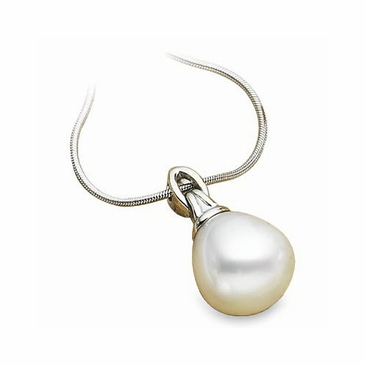 Single Natural Round Pearl Pendant