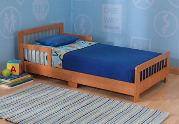 Slatted Toddler Cot- Honey