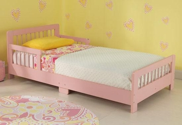 Slatted Toddler Cot- Pink