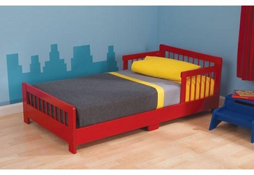 Slatted Toddler Cot- Red