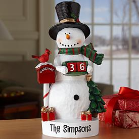 Snowman Christmas Countdown Figurine - Personalized