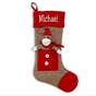 Sock Monkey Christmas Stocking - click to Enlarge