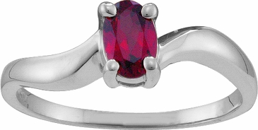 Sophisticated Birthstone Solitaire Ring