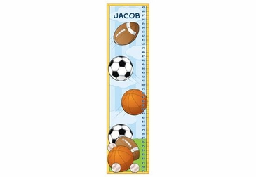 Sports Growth Chart Personalized