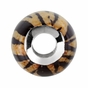 Sterling Silver 12x13mm Tiger Print Bead - click to Enlarge