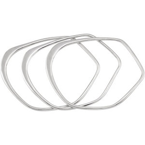 Sterling Silver Bangle Bracelets - Set of Three