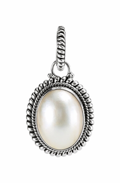 Sterling Silver Cultured Mabe Pendant with Pearl
