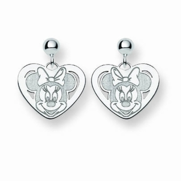 Sterling Silver Disney Minnie Mouse Post Dangle Earrings