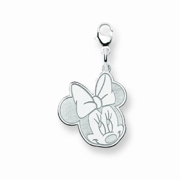 Sterling Silver Disney Small Minnie Mouse Charm with Lobster Clasp