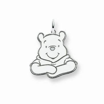 Sterling Silver Disney Small Winnie the Pooh Portrait Charm