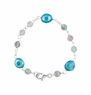 Sterling Silver Pearl and Bead Armlet
