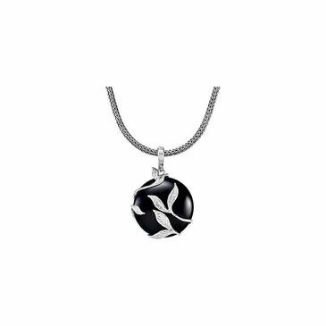 Sterling Silver Pendant Enhancer- Genuine Onyx