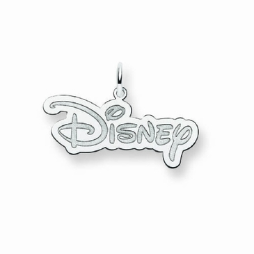 Sterling Silver Small Disney Logo Charm