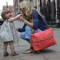 Storksak Ashley Coral Diaper Bag - click to Enlarge