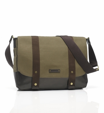 Storksak Aubrey Khaki/Chocolate Diaper Bag