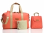 Storksak Bailey Coral Diaper Bag - click to Enlarge