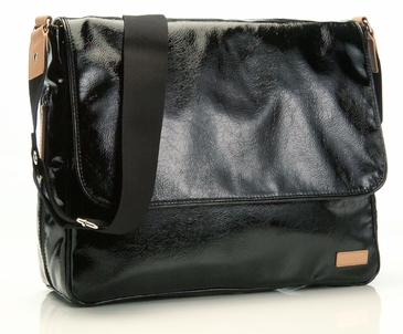 Storksak Dori Black Messenger Diaper Bag - As Seen on Jessica Alba