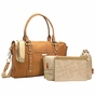 Storksak Elizabeth Leather Diaper Bag - Camel/Tan - click to Enlarge