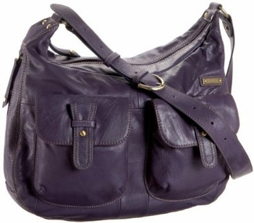 Storksak Emily Leather Diaper Bag in Purple  (SALE)