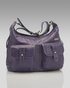Storksak Emily Leather Diaper Bag in Purple  (SALE) - click to Enlarge