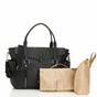 Storksak Emma Leather Diaper Bag - Black - click to Enlarge
