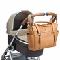 Storksak Emma Leather Diaper Bag - Camel/Tan - click to Enlarge