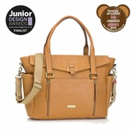 Storksak Emma Leather Diaper Bag - Camel/Tan
