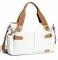Storksak Kate Chalk Patent Leather Diaper Bag - click to Enlarge