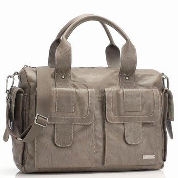 Storksak Sofia Leather Taupe Diaper Bag