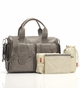 Storksak Sofia Leather Taupe Diaper Bag - click to Enlarge