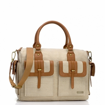 Storksak Sofia Natural Canvas Diaper Bag