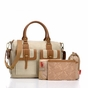 Storksak Sofia Natural Canvas Diaper Bag - click to Enlarge