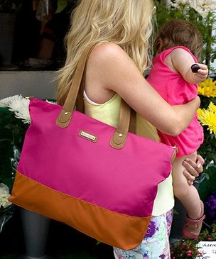 Storksak Tote Fuchsia Orange D...