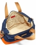 Storksak Tote Navy Orange Nylon Diaper Bag - click to Enlarge