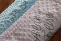 Super Soft Personalized Chenille Baby Blanket - click to Enlarge