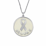 Survivor Ribbon Personalized Pendant Necklace
