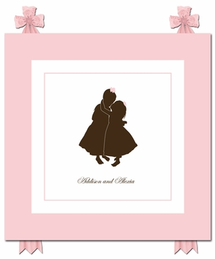 Sweet Embrace Silhouette Art Personalized by Dish and Spoon