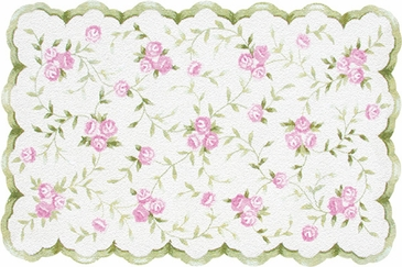 Sweet Rose Hook Flannel Rug