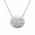 """Sweetly Swirled"" Initial Pendant Necklace"