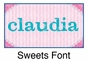 "Sweets Canvas Wall Art Personalized - 10"" x 24"" - click to Enlarge"