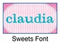 "Sweets Canvas Wall Art Personalized - 15"" x 15"" - click to Enlarge"