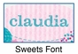 Sweets Oval Wall Plaque Personalized - click to Enlarge