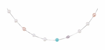 Swish Pearl & Amazonite Necklace